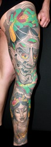 Tattoo Arm Asia Hennay Sleeve Frau Portrait