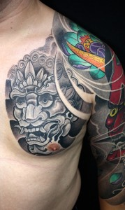 Tattoo Asia hennay sleeve arm brust