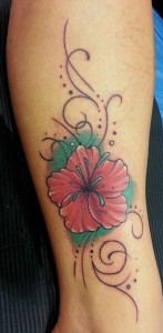 Tattoo Blume Arm