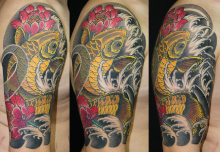 Tattoo Gelber Yellow Koi