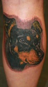 Tattoo Portrait Hund