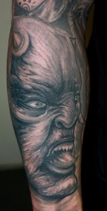 Tattoo Portrait Monster Arm