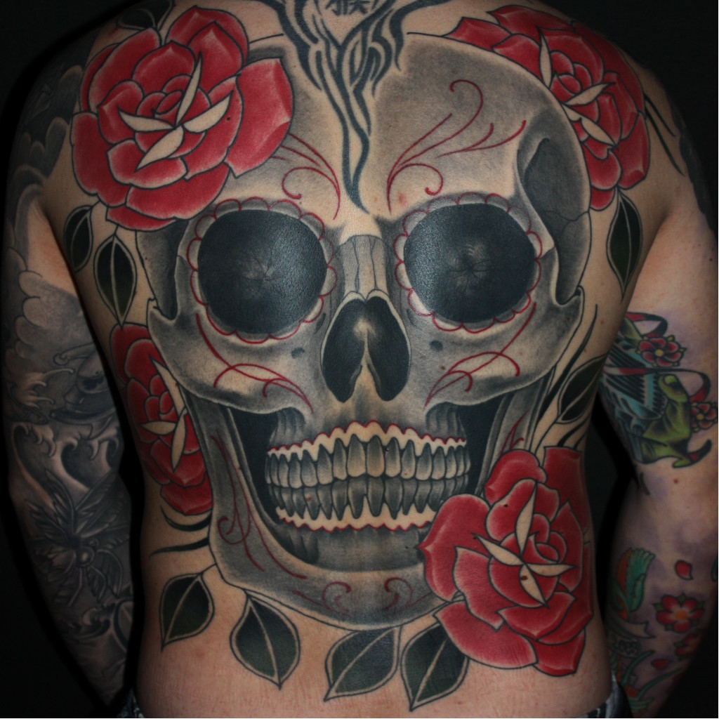 skull tattoo. Black Bedroom Furniture Sets. Home Design Ideas